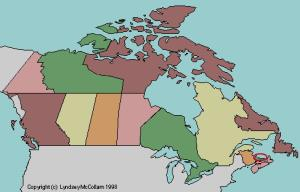 Provinces and territories of Canada. Lizard Point