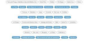 Test de provincias y capitales de Argentina (Cerebriti)