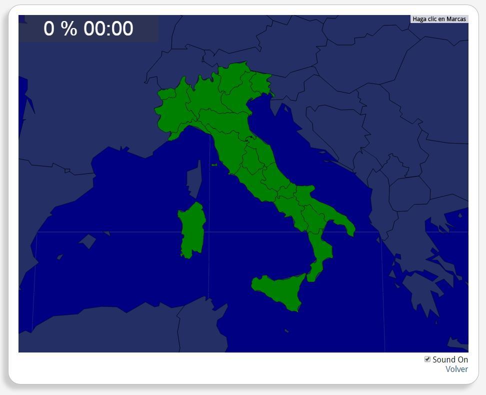 Karte Italien Regionen.Interaktive Karte Von Italien Italien Regionen Seterra Mapas
