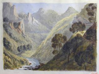 Paisaje de la región de Saboya (Francia)