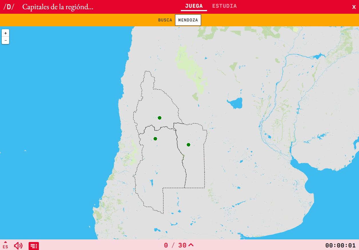 Argentina Cuyoko eskualdeko hiriburuak