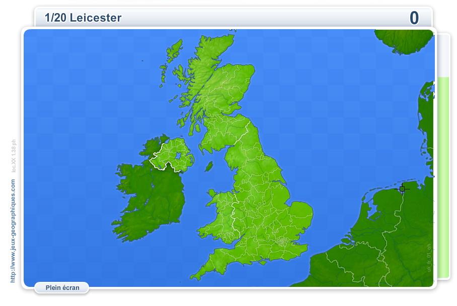 Villes du Royaume-Uni. Jeux géographiques