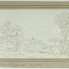 Vista de la bahia de Nápoles desde Pozzuoli (Italia)