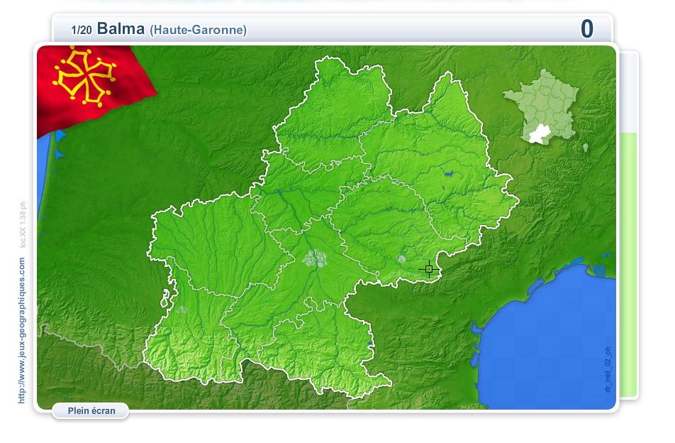 Villes de Midi-Pyrénées. Jeux géographiques