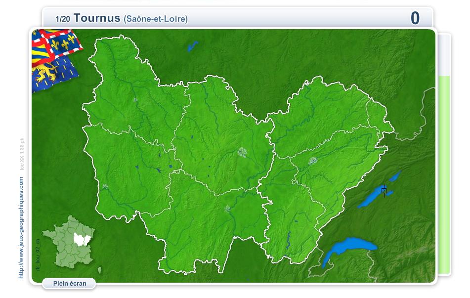 Villes de Bourgogne et de Franche-Comté. Jeux géographiques