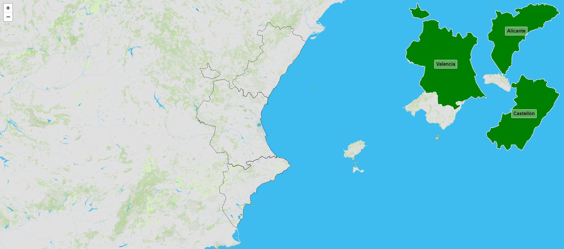 Provincias de la Comunidad Valenciana