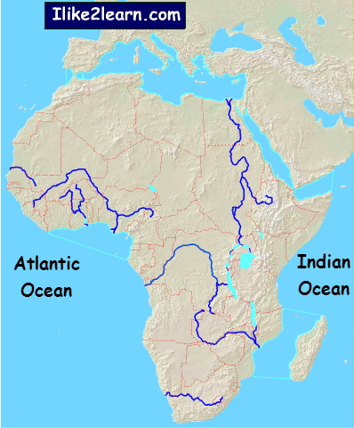 African rivers Rivers of Africa. Ilike2learn - Mapas ...