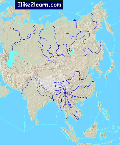 Bodies of water of Asia. Ilike2learn