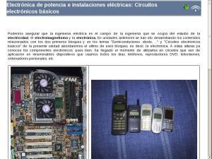 Electrónica de potencia e instalaciones eléctricas: Circuitos electrónicos básicos