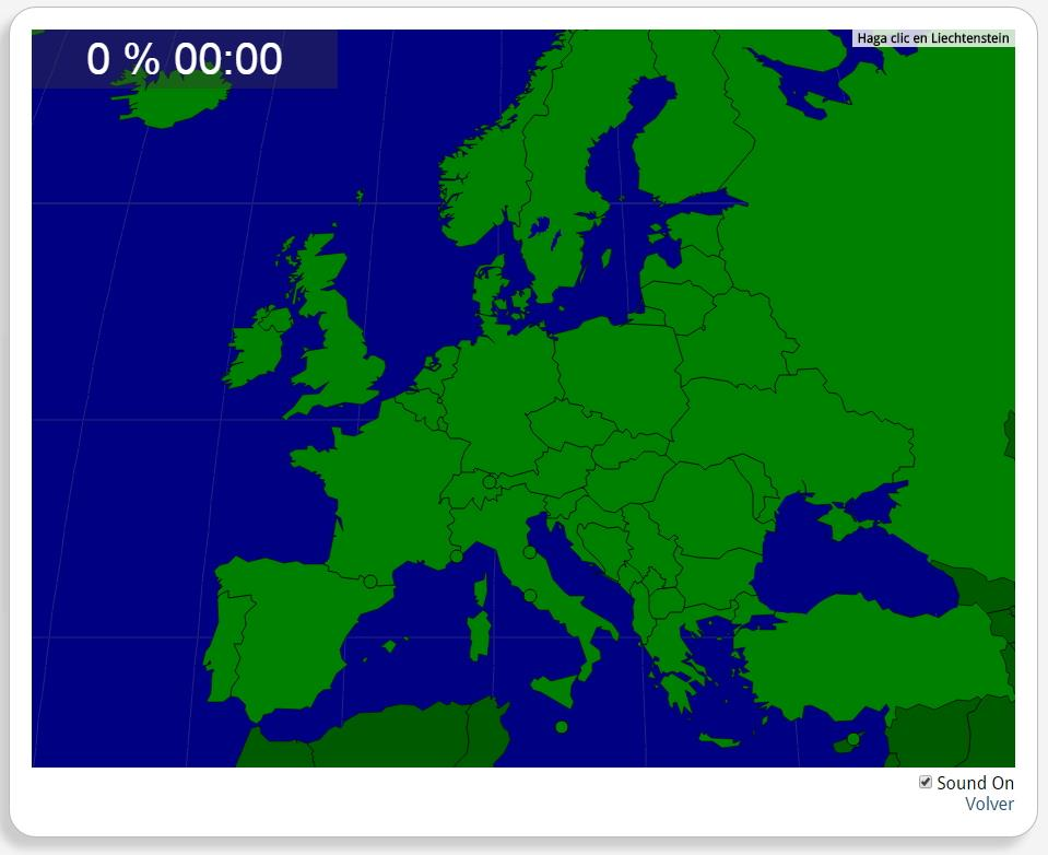Europa: Países. Seterra