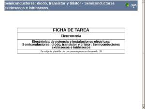 Semiconductores: diodo, transistor y tiristor - Semiconductores extrínsecos e intrínsecos
