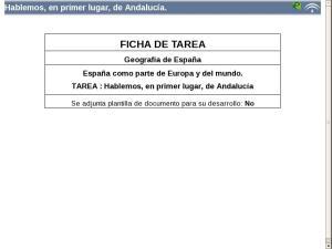 Hablemos, en primer lugar, de Andalucía.