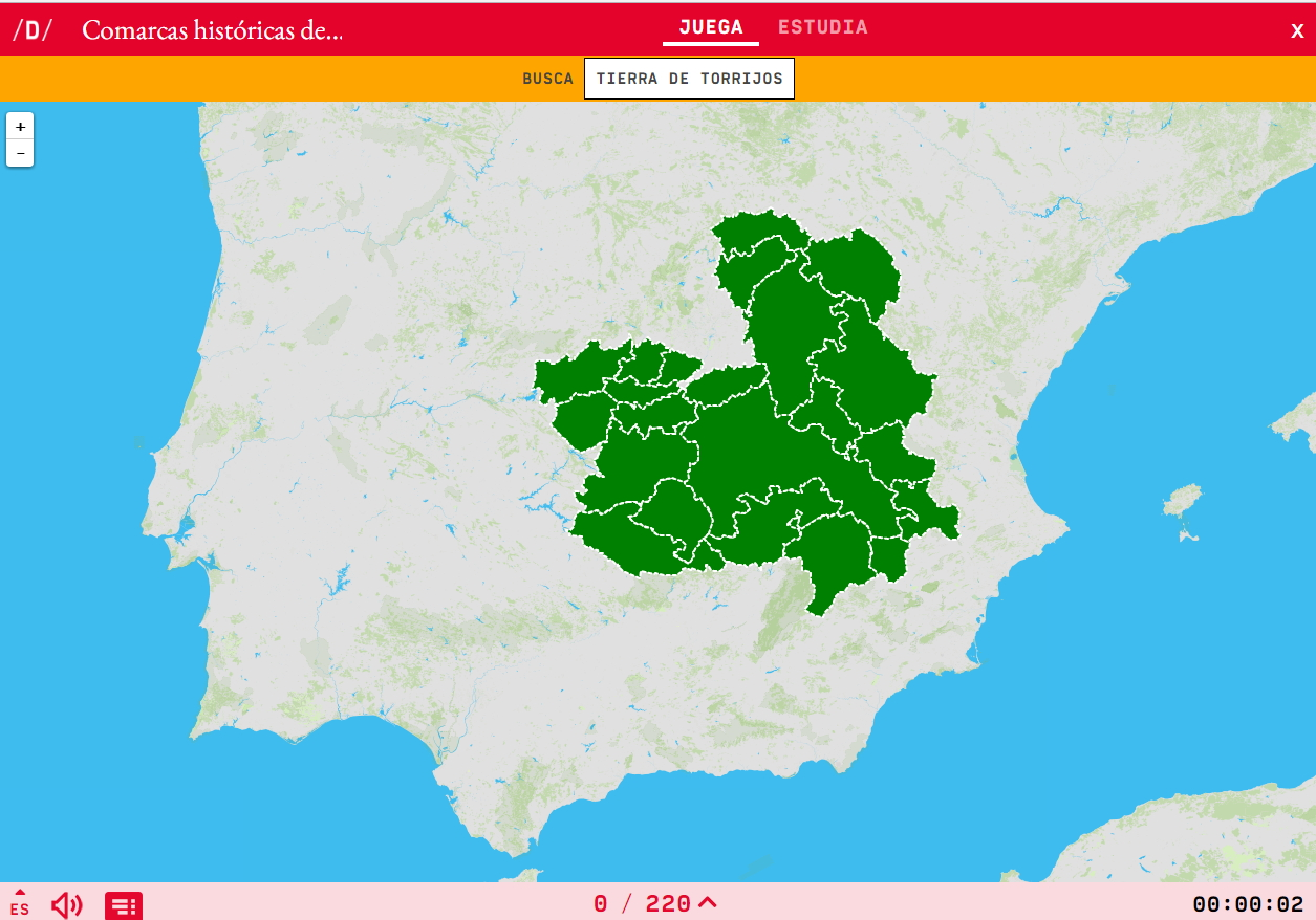 Comarques historiques de Castille-La Manche