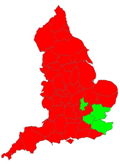 Counties of England  (JetPunk)