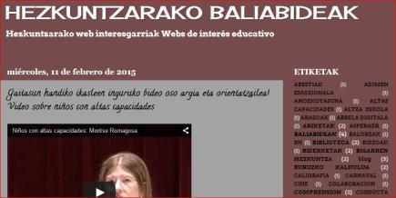 HEZKUNTZARAKO BALIABIDEAK-WEBS DE INTERÉS EDUCATIVO