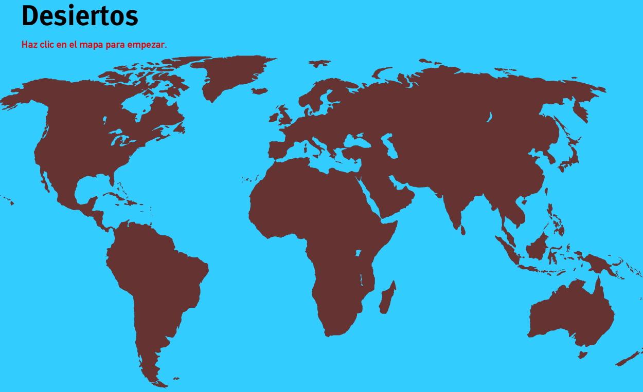 Desiertos del Mundo. Juegos de Geografía