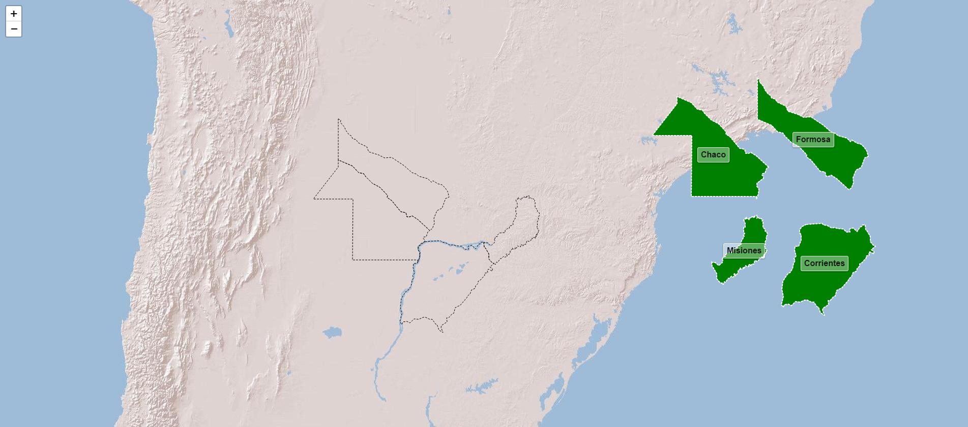 Províncias da região noreste de Argentina