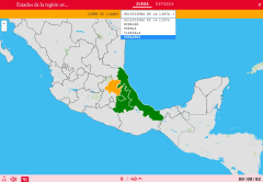 States of the region eastern of Mexico