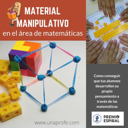Uso de material manipulativo en el área de matemáticas.