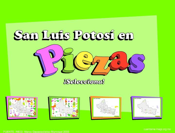 Municipios de San Luis Potosí. Puzzle. INEGI de México