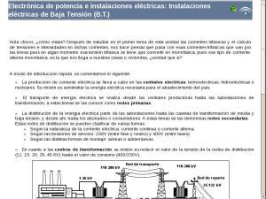 Electrónica de potencia e instalaciones eléctricas: Instalaciones eléctricas de Baja Tensión (B.T.)