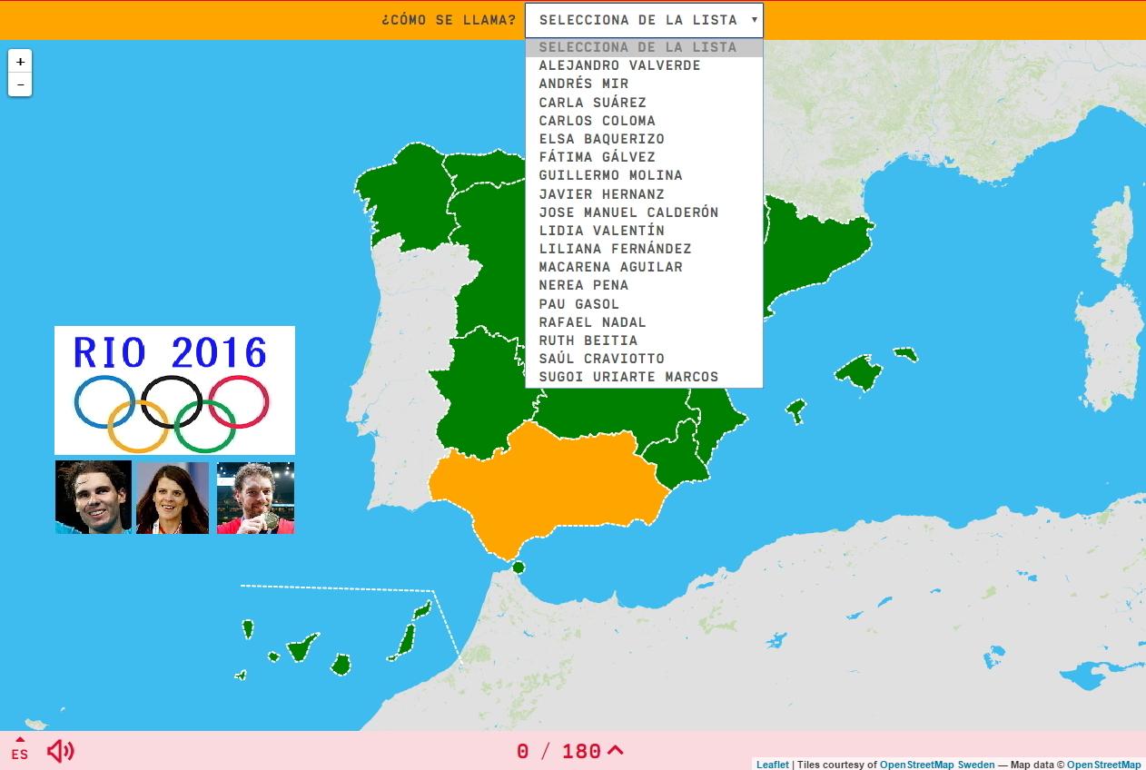 18 Deportistas Olímpicos Españoles (Río 2016)