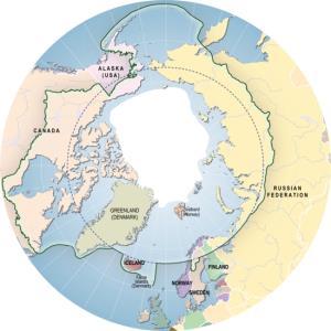 Mapa político de la flora y la fauna de la región del Ártico. GRID-Arendal
