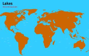 Lakes of the World. World Geography Games