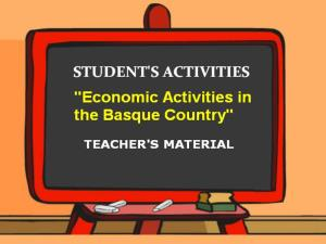 Economic Activities in the Basque Country