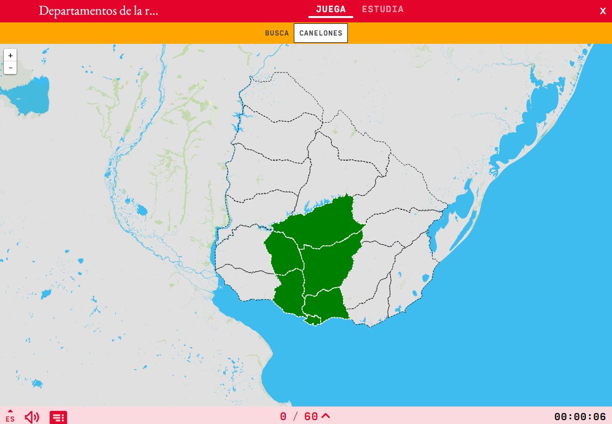 Departamentos da rexión centro-sul de Uruguai