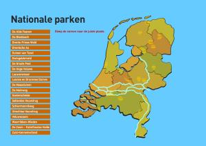 Nationale parken in Nederland. Topografie van Nederland