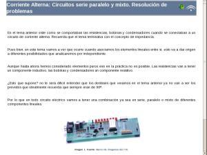 Corriente Alterna: Circuitos serie paralelo y mixto. Resolución de problemas