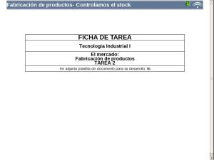 Fabricación de productos- Controlamos el stock