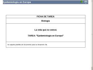 Epidemiología en Europa