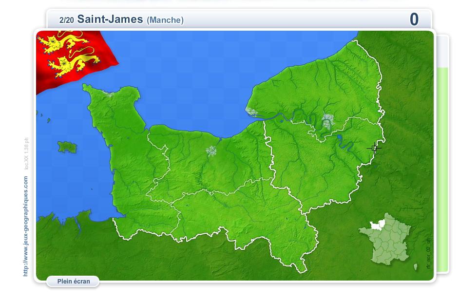 Villes de Normandie. Jeux géographiques