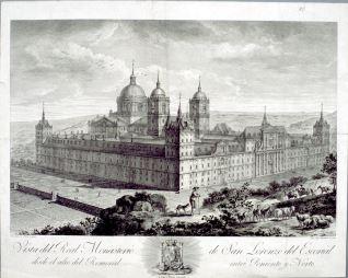 Vista del Real Monasterio de San Lorenzo de el Escorial