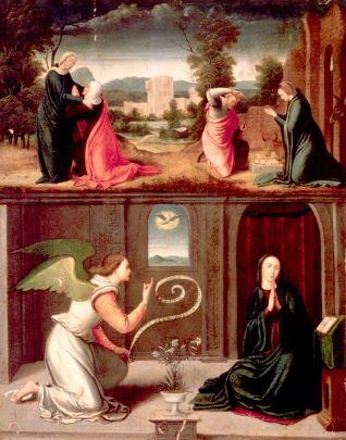 La Anunciación, Visitación y Nacimiento