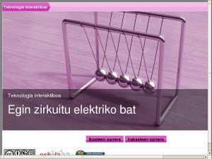 Teknologia interaktiboa - Egin zirkuitu elektriko bat