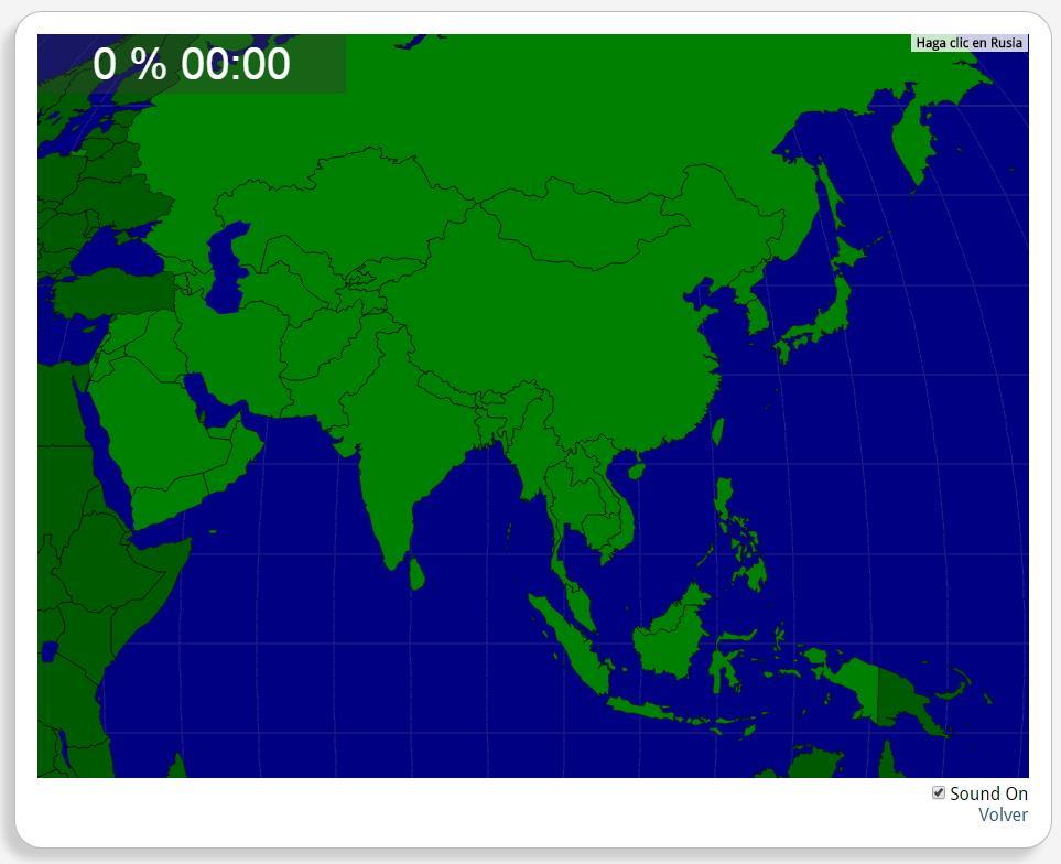 Azië: Landen. Seterra