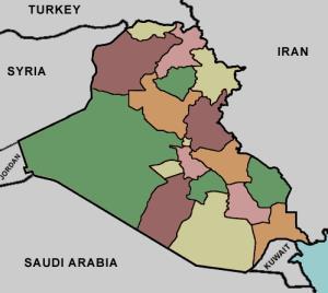 Provinces of Iraq. Lizard Point