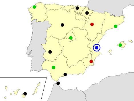 Spain cities map  (JetPunk)