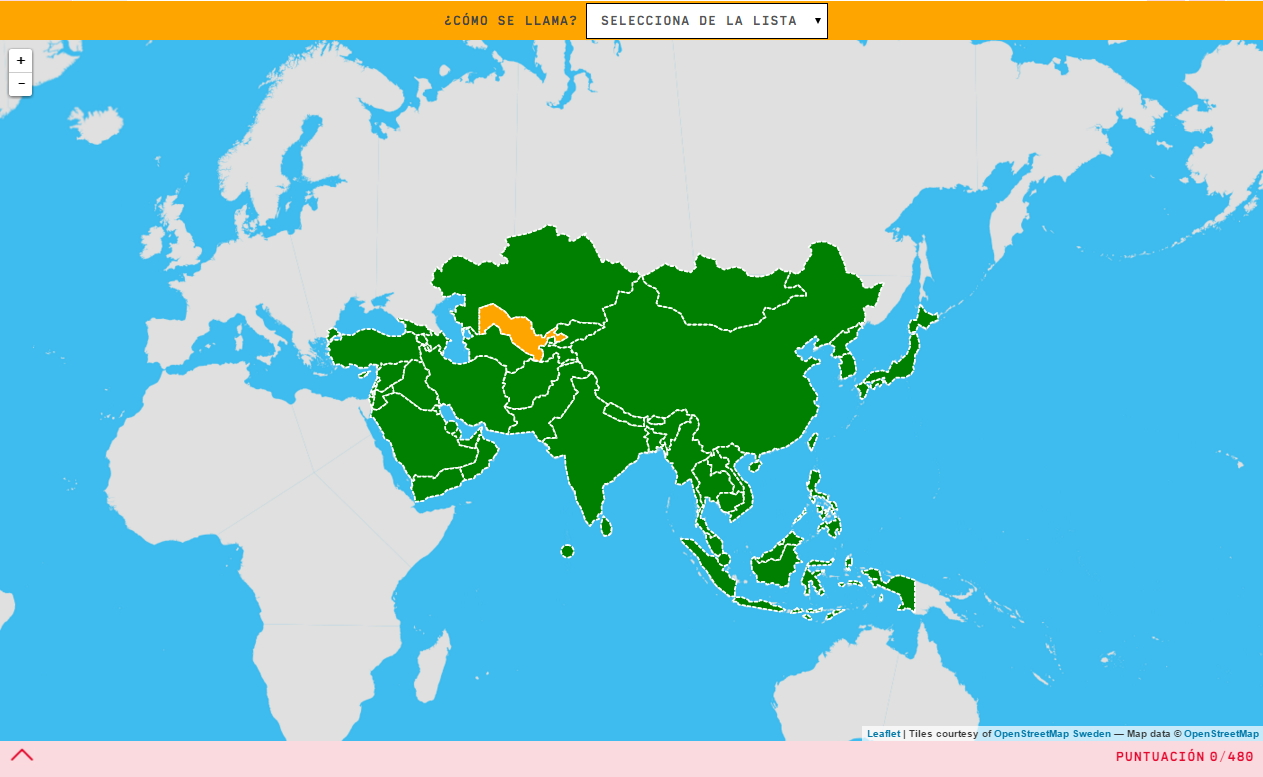Interactive Map What S The Name Countries Of Asia Mapas
