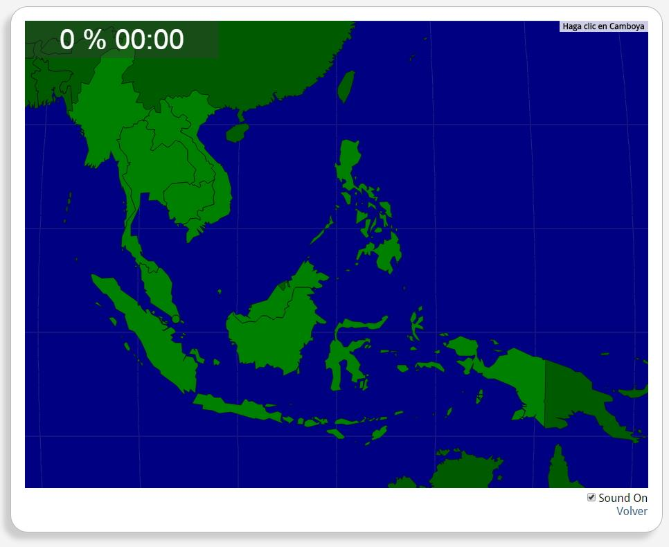 South East Asia: Countries. Seterra