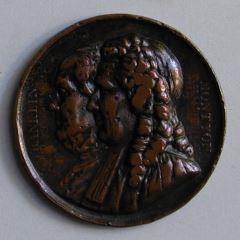 Benjamin Franklin y Antoine-Jean-Baptiste-Robert Auget, baron de Montyon