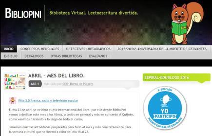 Biblioteca virtual BilbioPini: lectoescritura divertida
