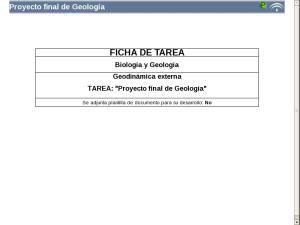 Proyecto final de Geología