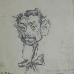 "Caricatura de Isidoro Fernández Flórez, ""Fernanflor"""