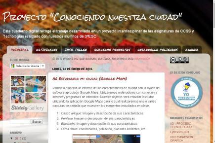 """Proyecto """"Conociendo nuestra ciudad"""""""