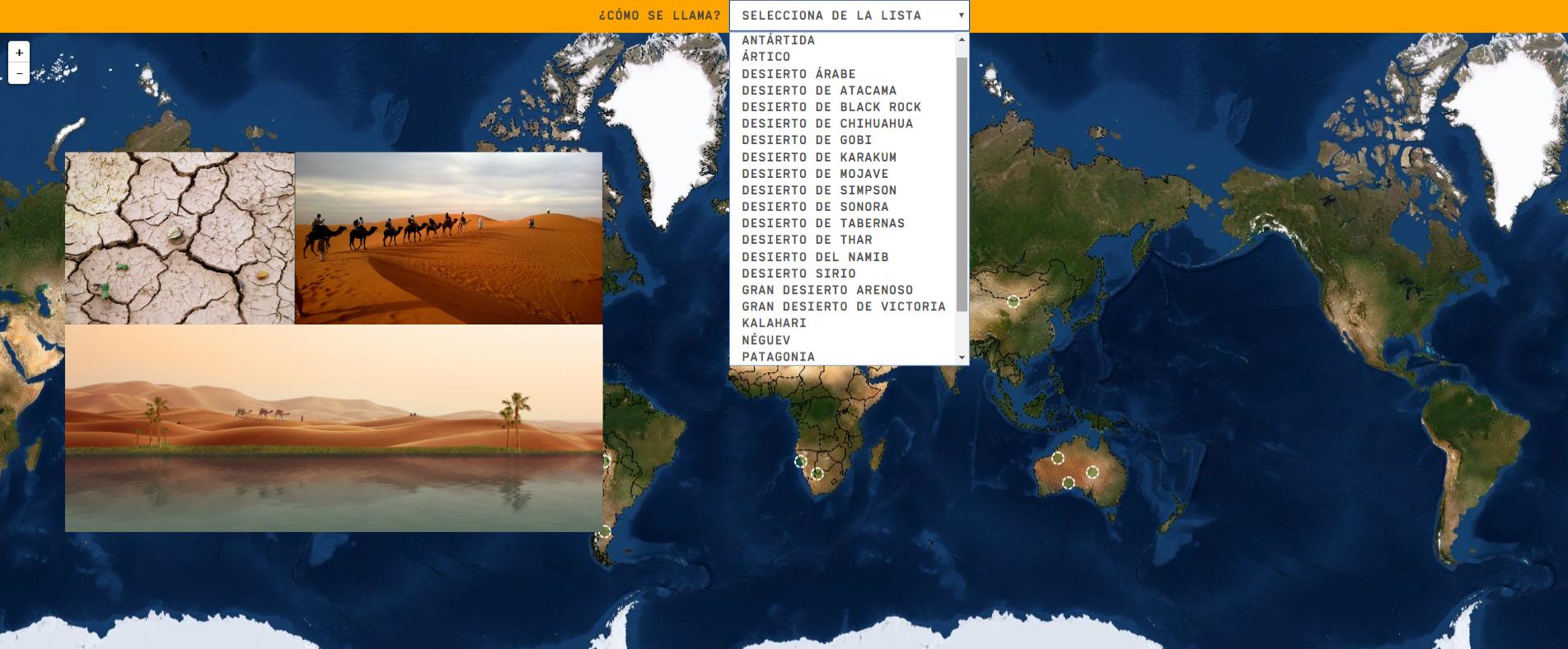 Deserti del mondo - Livello difficile