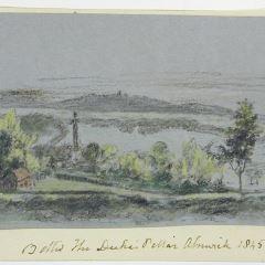 Vista de la llamada Columna del duque en Alnwick, Northumberland (Inglaterra)